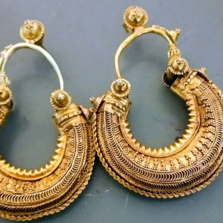 Gold Earrings-India