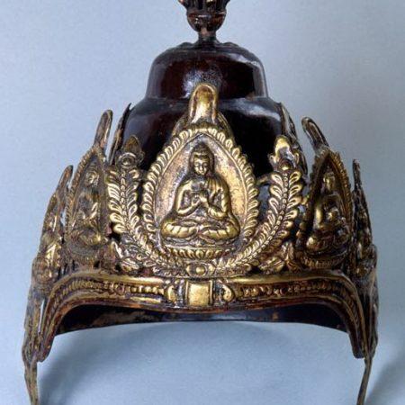 Priest's helmet – Nepal